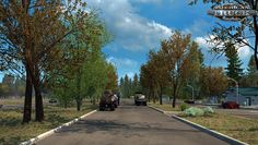 This mod simulates early autumn environment and weather. Features Less leaves on trees and autumnal colours Autumnal daylight hours HDR bloom reduced Appropriate temperature readings No thunder and lighting No harvesters Compatible with all map. Late Autumn, Early Autumn, Autumn Fall, Thunder And Lighting, American Truck Simulator, Environment, Sidewalk, Country Roads, Weather
