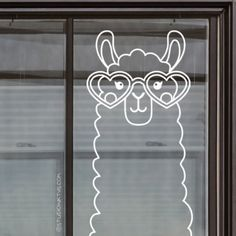 Crazy about llamas? Then quickly draw this uber-cute brillama # window drawing, . Crazy about llamas? Then quickly draw this uber-cute brillama # window drawing, illustrated by Studio Inktvis, on your trouve. Window Markers, Chalk Design, Country Christmas Decorations, Window Art, Alpacas, Marker Art, Chalkboard Art, Chalk Art, Stone Painting