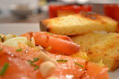 Insalata di salmone, arance e finocchi - Smoked salmon, oranges and fennel salad