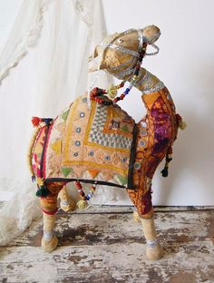 another Etsy camel (vintage Indian decorated camel)
