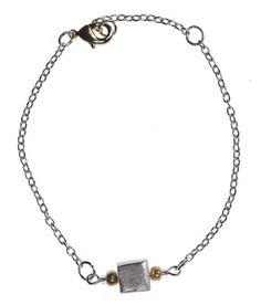 Silver & Gold Cube Bracelet