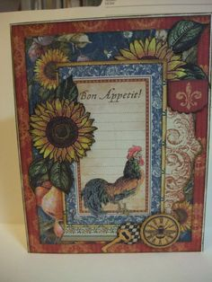 All Purpose card:  Graphic 45 French Country Collection