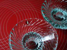 "Pair of Iittala ""Poppa"" Glass Candlesticks in original Box // Designed by Valto Kokko 1982"