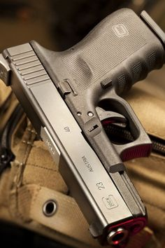 Glock 23. Never leave home with out it Find our speedloader now!  www.raeind.com  or  http://www.amazon.com/shops/raeind