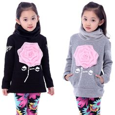Girls Autumn High Collar Printed Flower Long Sweater Jacket Tops Outwear 6-12Y #Unbranded