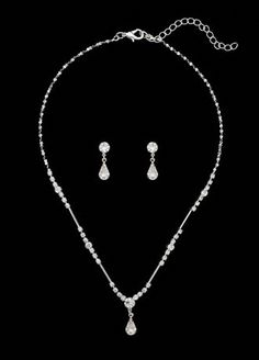 This necklace and earring set looks perfect for the dress. its not too big and its simple and nice but small