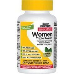 Super Nutrition Simply One 50 Women Triple Power 30 Tabs Brand New SEALED 033739002120 | eBay