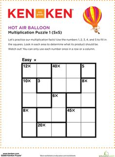math worksheet : moped kenken® puzzle  puzzles worksheets and mopeds : Division Puzzle Worksheets
