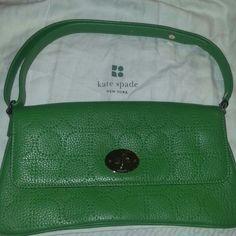 Green Kate Spade Leather Purse