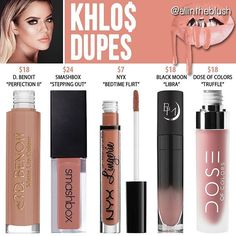 Kylie Cosmetics Koko Collection Khlo$ dupes: Nyx Bedtime Flirt cruelty free