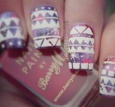 Winter nail art.