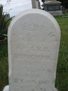 Albert M Boughan  Son of Wm & Nancy 1867