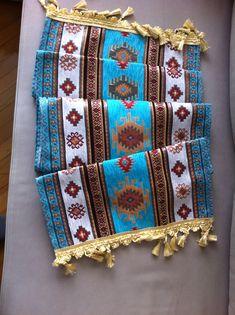 "Turkish Anatolian Ottoman Jacquard Pillow Cover Double Side Zippered 27/""x27/"" M17"