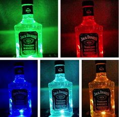 DIY Jack Daniels Color Changing Lamp