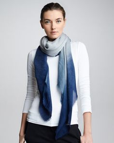 Ombre Square Scarf, Alpine by Giorgio Armani at Bergdorf Goodman.