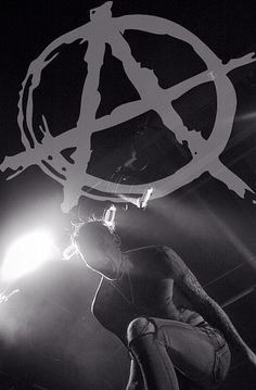 Rager cuz I mosh pit, and this A stands for Anarchist.