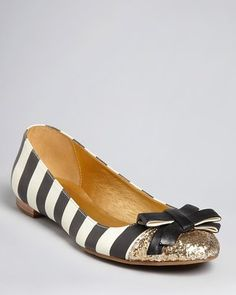ShopStyle: Kate SpadeBallet Flats - Trixie  And again, very non-traditional but the the style of dress in my head, these would totally work! (You'd barely see my feet any way lol)