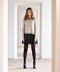 WOOL SWEATER WITH LACE English knitting sweater + lace =what a MIX!   http://www.mireafashion.it/en/knitwear/35250-wool-sweater-with-lace-2030007231.html  #shopping #tagsforlikes #instalike #fashion #madeinitaly #sweater #fallfashion #outfitoftheday