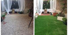 Antes y después de un jardín gracias al césped artificial