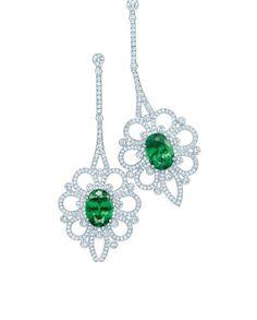 Tiffany Tsavorite diamond earrings