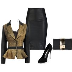 Black n Gold by jvs8384 on Polyvore featuring мода, H&M, ONLY, Gianmarco Lorenzi and Michael Kors