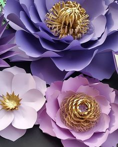 Sneak peak of my first Etsy order. Shades of purple and gold is still my most requested colors.  Thank you all for keeping the orders coming.  #paperflowers