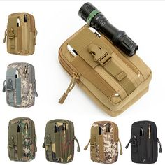 Outdoor Camping Climbing Bag Tactical Military Molle Hip Waist Belt Wallet Pouch Purse Phone Case for iPhone 7 for Samsung #Affiliate