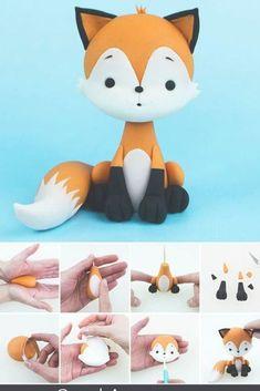 Fox Cake Topper TUTORIAL - The Effective Pictures We Offer You About diy A quality picture can tell you many things. Fondant Figures Tutorial, Cake Topper Tutorial, Fondant Animals Tutorial, Fimo Kawaii, Fox Cake, Woodland Cake, Fondant Cake Toppers, Sugar Craft, Gum Paste