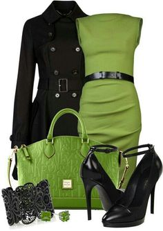 Vibrant colors used with neutral tones can make a great business outfit