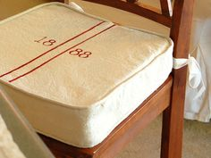 Diy Grain Sack Kitchen Barstool Cushions