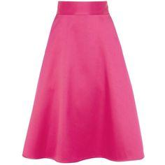 Coast Coro Skirt, Primrose Garden ($105) ❤ liked on Polyvore featuring skirts, skater skirt, knee high skirts, pink knee length skirt, circle skirt and knee length skirts