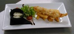 Yum! Posh Fish & Chips - Monkfish in chilli batter, with triple cooked chips, salad and tartare sauce. On the menu at Jacks @ Hartham Park all next week for National Chip Week.