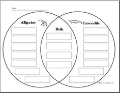 Comprehension: What is it? Alligator or Crocodile (elementary) - preview 1