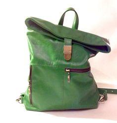 Sac à dos de cuir backpak, vert en cuir sac à dos, sac à dos sac à dos, sac à dos de Hipster, cuir femme