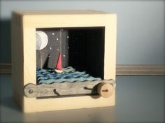 Red Sailboat At Night Automata
