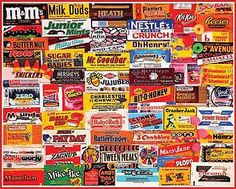 Candy Wrappers jigsaw puzzle by White Mountain - even has a Marathon bar! My favorite when I was little!