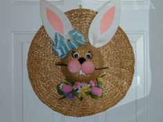 Cute for Easter - Just use a straw hat and fun foam for ears! Then decorate as you like! Easter Projects, Easter Crafts For Kids, Easter Stuff, Easter Ideas, Diy Osterschmuck, Dyi, Diy Straw, Straw Hats, Hat Crafts