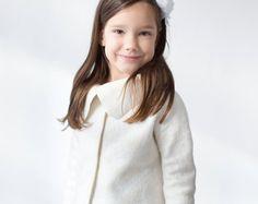 Felt jacket   wool jacket   girls jacet   wool felt jacket   felted coat   felted clothing   christening coat   flower girl