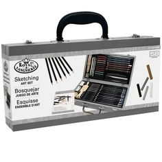 This wonderful sketching set is ideal for the beginner, student or practicing artist. The amount and assortment of art supplies in this comprehensive 58-piece collection is outstanding! It features a