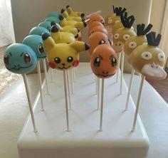Pokemon cake pops#pikachu#squirtle#psyduck#charmander#birthday