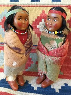 Adorable Pair of Skookum Native American Indian Bully Good Dolls from the '50's by HappyCreekFarm on Etsy