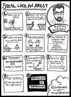 Steal Like An Artist- A Sketchnote by scotttorrance, via Flickr