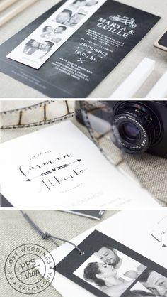 Invitación Boda PPStudio modelos flechazo y tandem #wedding #stationery #invitacionesboda #boda #fotomatón #handmade