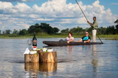 This is how we enjoy sundowners at Pelo Camp in the Okavango Delta. Safari romance at its best.