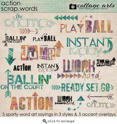 Action Scrap.Words from Cottage Arts
