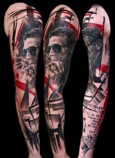 Black N Red Forearm Tattoos For Men | Tattoo Ideas and Designs Gallery Blog
