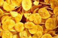 Banana Chips recipe.  5 raw bananassalt to taste 1 tsp turmeric powderCoconut oil for deep fryingBlack pepper powder