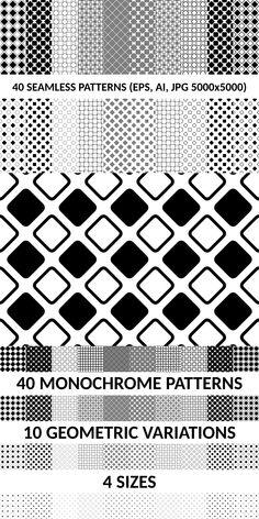 40 Seamless Square Patterns AI EPS JPG 5000x5000 #DiscountPatterns #AbstractBackground #pattern #DiscountBackgrounds #zydd #PatternBundle #PatternDesign #CheapVectorPattern #seamless #BackgroundSets #PremiumVectorPatterns #PatternBundles #square #BackgroundSale #geometric #CheapPattern #background #seamlesspattern #sale Monochrome Pattern, Geometric Pattern Design, Geometric Background, Vector Background, Square Patterns, Repeating Patterns, Vector Pattern, Vector Graphics, Abstract Backgrounds