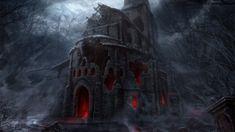 dark night castle (1920×1080)