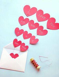 Carte Saint-Valentin cœurs